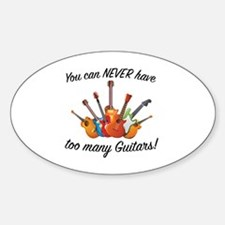 Unique Funny guitar Sticker (Oval)