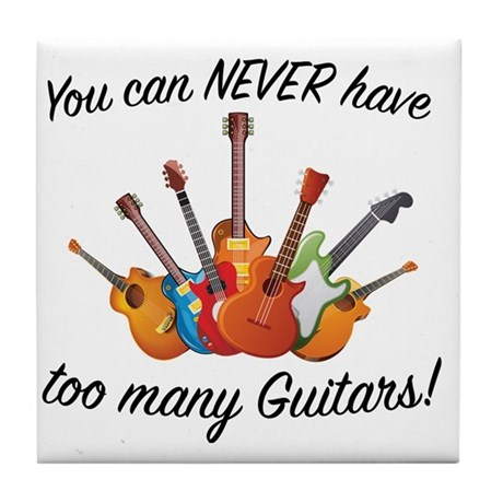 Funny Guitars Tile Coaster
