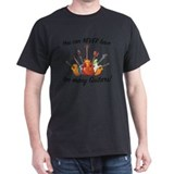 Guitar Mens Classic Dark T-Shirts