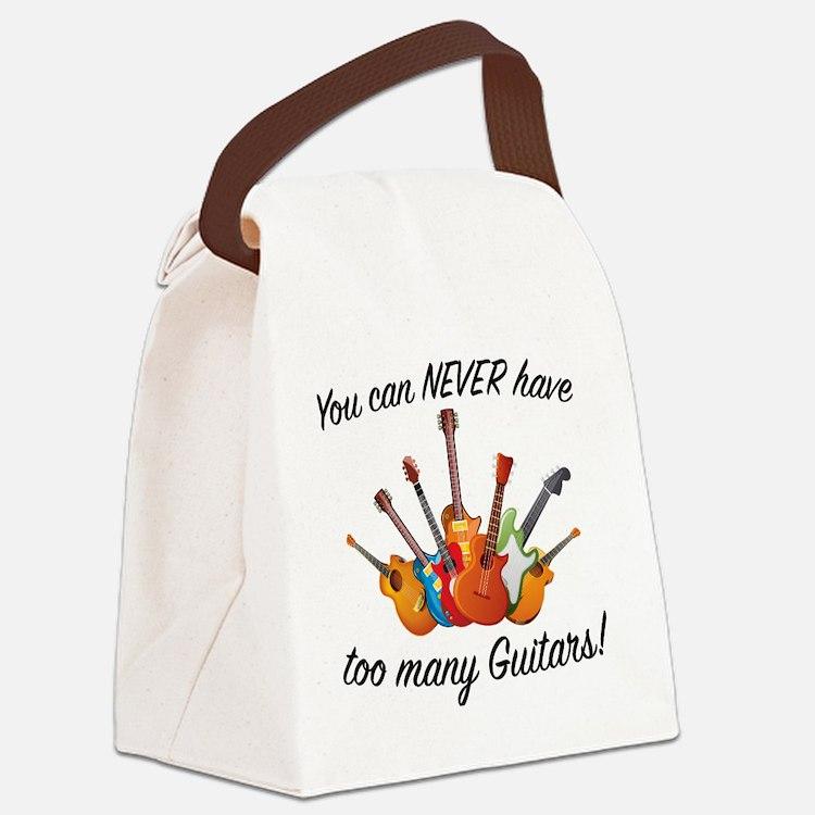 Cute Guitar Canvas Lunch Bag
