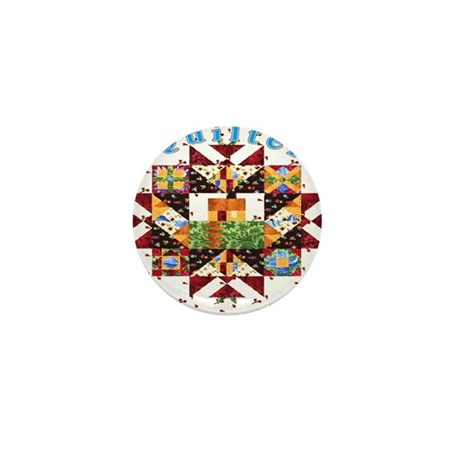 Country Cottage Quilter Mini Button