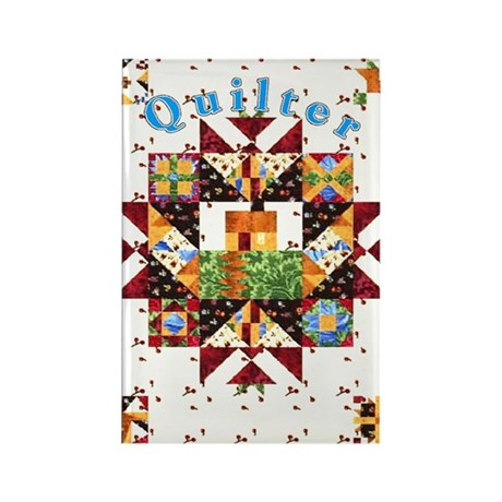 Country Cottage Quilter Rectangle Magnet
