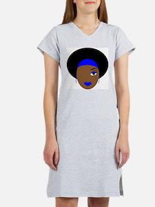afro diva blue T-Shirt