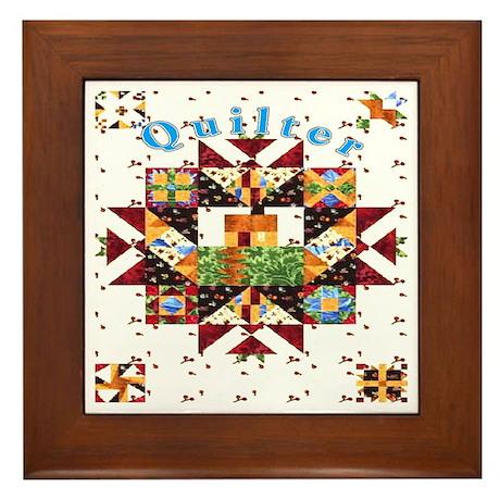Country Cottage Quilter Framed Tile