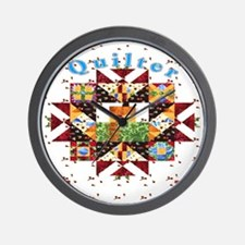 Country Cottage Quilter  Wall Clock