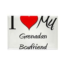 I Love My Grenadan Boyfriend Rectangle Magnet