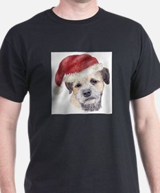 Christmas Border Terrier T-Shirt