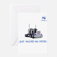 I just waxed my Peter... GUAD Greeting Card