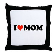 I Heart Mom Throw Pillow