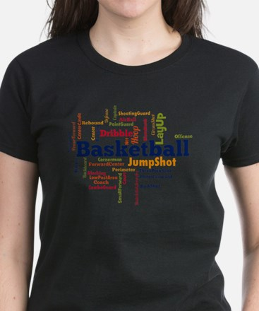 Basketball Word Cloud T-Shirt