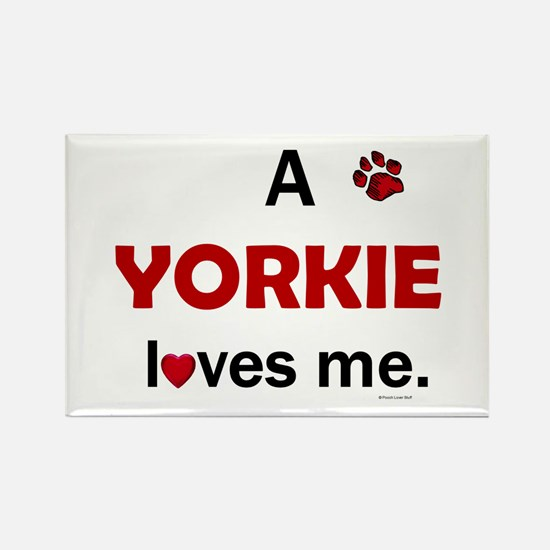 A Yorkie Loves Me Magnets