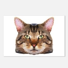 Tabby Cat Face Postcards (package Of 8)