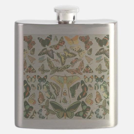 Cute Moths Flask