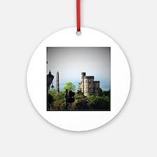 Cute Castle cityscape Round Ornament