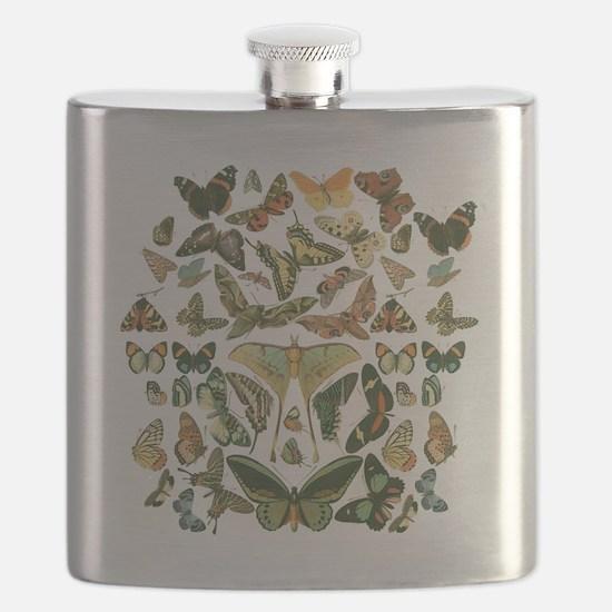 Unique Moths Flask