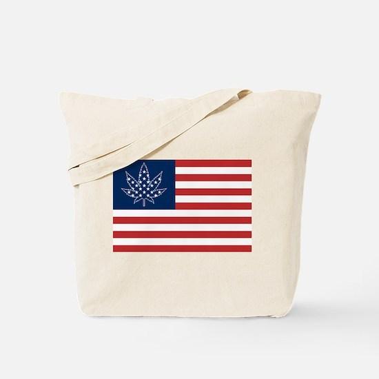 Indica Leaf 420 Victory Flag Tote Bag