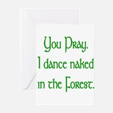 Naked Pagan Greeting Cards
