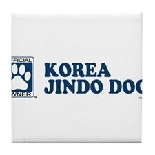 KOREA JINDO DOG Tile Coaster