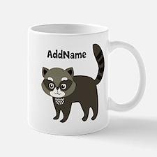 Personalized Name Mr. Raccoon Kid's Mug
