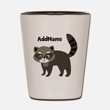 Personalized Name Mr. Raccoon Kid's Shot Glass