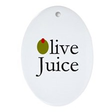 Olive Juice Oval Ornament
