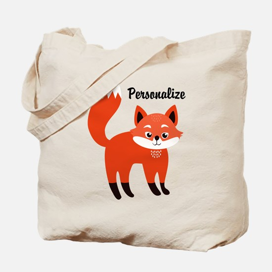 Fox Personalized Tote Bag