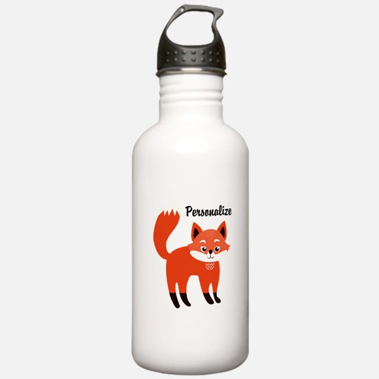 Fox Personalized Water Bottle