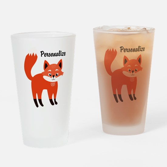 Fox Personalized Drinking Glass