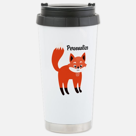 Fox Personalized Stainless Steel Travel Mug