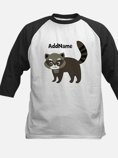 Personalized Name Mr. Raccoon Kids Baseball Jersey