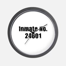 Inmate Number 24601 Wall Clock