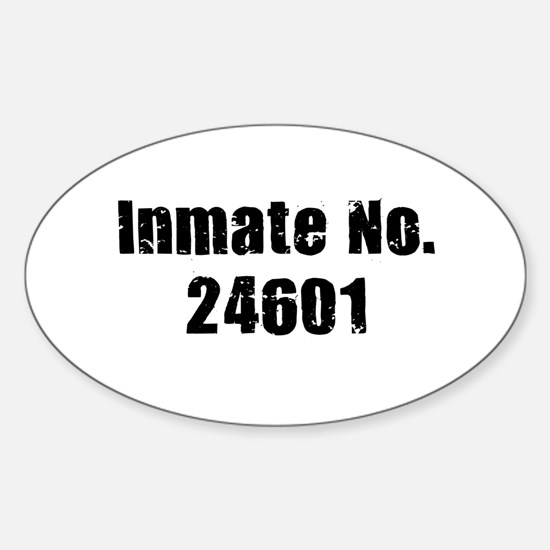 Inmate Number 24601 Oval Decal
