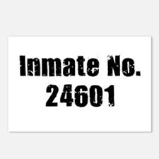Inmate Number 24601 Postcards (Package of 8)