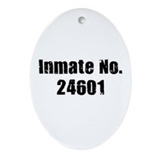 Inmate Number 24601 Oval Ornament