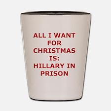 Christmas prison Shot Glass