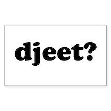 Djeet? Rectangle Decal