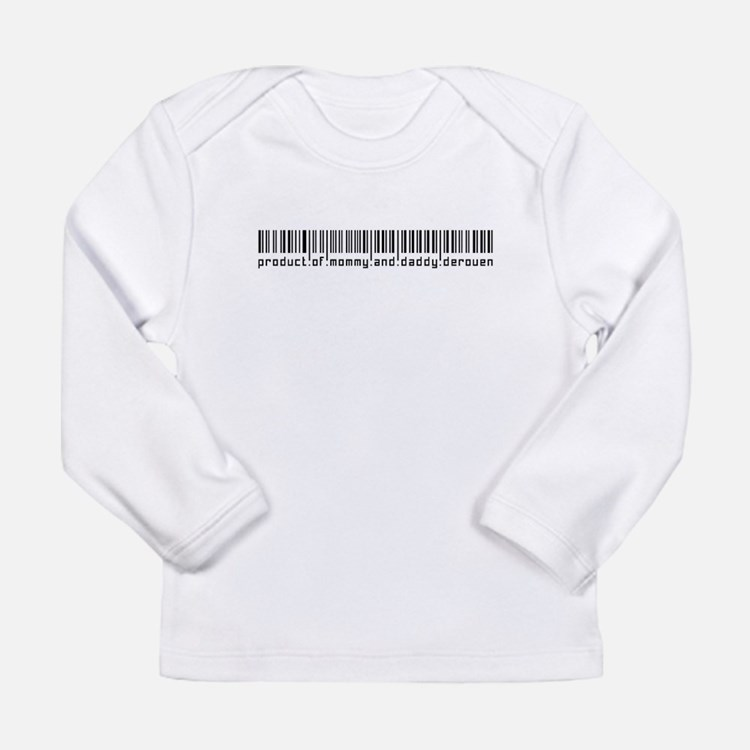 Derouen, Baby Barcode, Long Sleeve T-Shirt