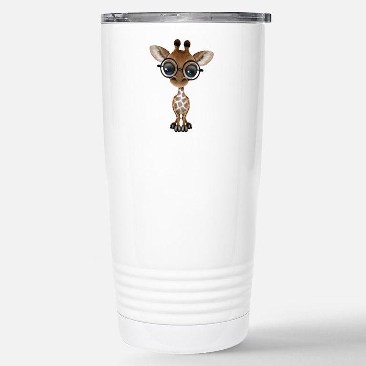 Cute Glasses Travel Mug