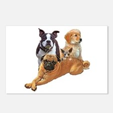 Dog posse with a hairless Postcards (Package of 8)