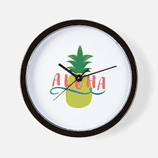 Aloha Pineapple Wall Clock