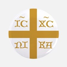 "ICXC NIKA Gold Jesus Christ 3.5"" Button (100 pack)"