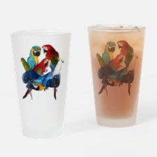 Parrots Drinking Glass