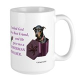 Doberman Large Mugs (15 oz)