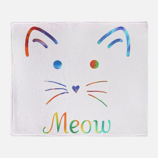 Meow Throw Blanket