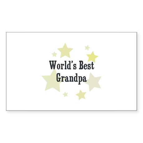World's Best Grandpa Rectangle Sticker