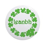 Leanbh Irish Word for Baby Ornament (Round)