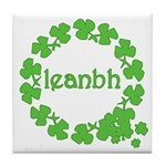 Leanbh Irish Word for Baby Tile Coaster