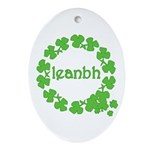 Leanbh Irish Word for Baby Ornament (Oval)