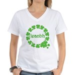Leanbh Irish Word for Baby Women's V-Neck T-Shirt