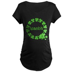 Leanbh Irish Word for Baby Maternity Dark T-Shirt